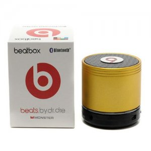 Beats By Dr Dre Beatsbox Portable Bluetooth Mini Speakers Gold 01