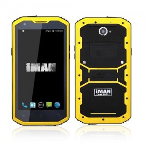 iMAN i8800 Smartphone 5.5 Inch HD Screen IP68 MSM8916 Quad Core 1GB 8GB - Yellow