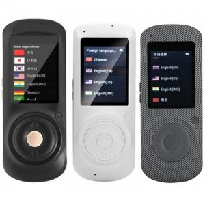 Maikou M2 2.4 inch Smart Voice Translator 45 Languages -u200b-u200btranslation - BLACK
