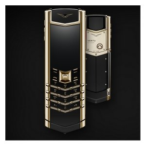 Vertu Signature YELLOW GOLD BLACK CERAMIC 2GB RAM 16GB ROM luxury Phone