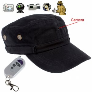 2 Million Pixels 1280 X 720 Hidden Pinhole Video Recorder Cap with Remote Controller
