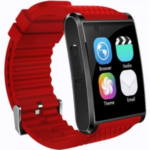 X11 MTK6580 For Android 3G GPS Bluetooth 4.0 Heart Rate Monitor Fitness 2 Million Hd Camera 512M 4G Smartwatch - RED