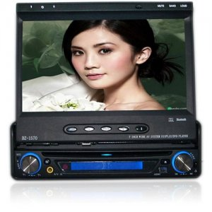 7 inch Wide TFT Touch Screen 1 DIN Large Screen Car DVD