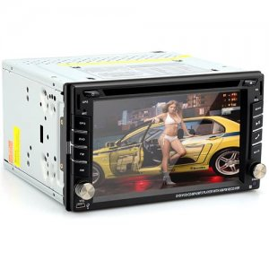 2 DIN 6.2 Inch Universal Car DVD Player - Windows CE 6.0 OS, 800x480 Resolution, GPS, iPod Support, RDS, Bluetooth