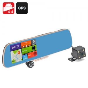 "Android 11.0 DVR + Parking Camera ""Gold Vision II""- 5 Inch Touch Screen Display, GPS Navigation, 720P Resolution"