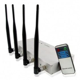 CellPhone Signal Jammer with Strength Remote Control - 10 Watt Output Power