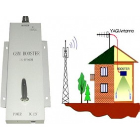 GSM Mobile Phone Signal Repeater Gain 60dB Power 17dbm 60 Square Meters